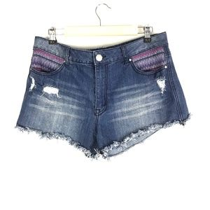 Almost Famous Distressed Jean Short